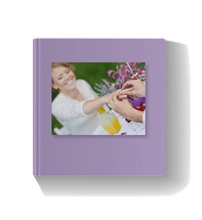 Wedding Book Purple Photo Book