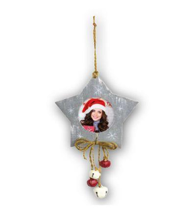 Christmas Tree Wooden Grey Star