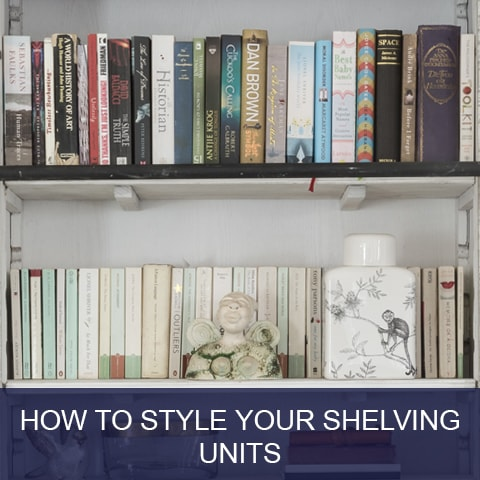 How to Style Shelving Units