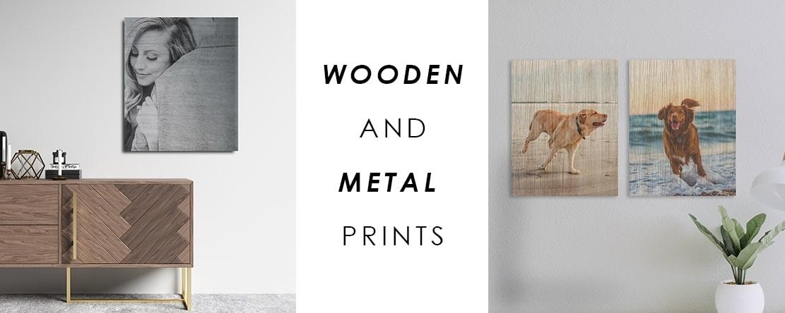 Wood and Metal Prints