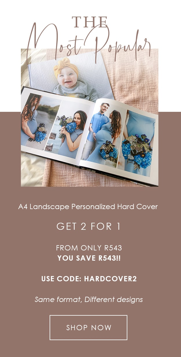 2 For 1 Landscape Photo Book Printed Hard Cover