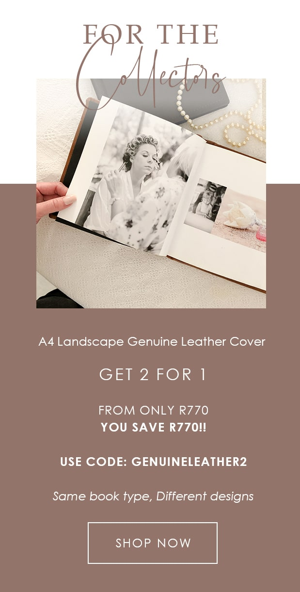 2 for 1 Landscape Photo Book Genuine Leather Cover