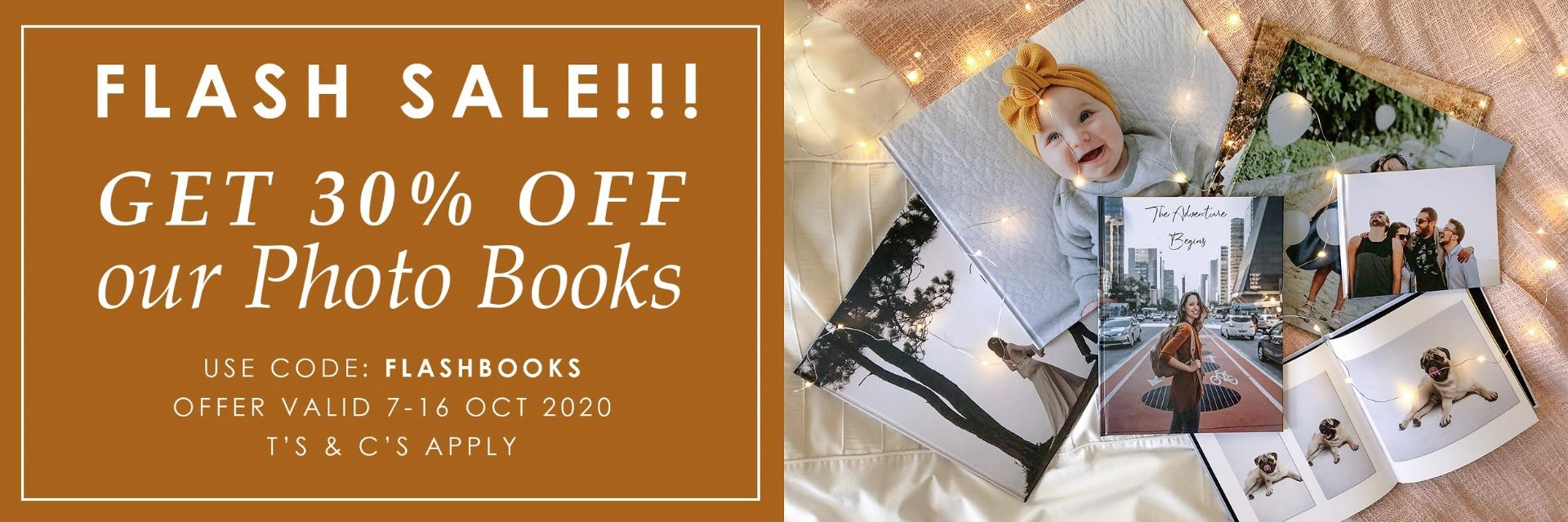 Flash Sale 30% Off Photo Books