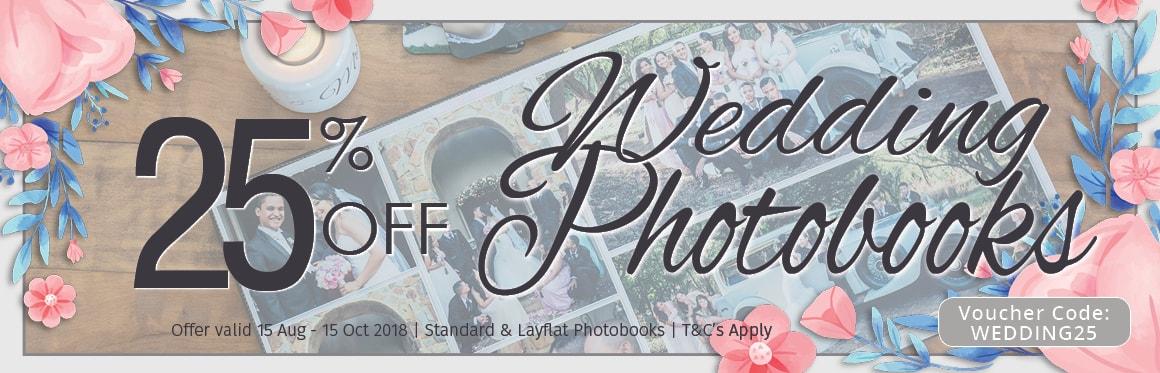 25% Off Wedding Photo Book