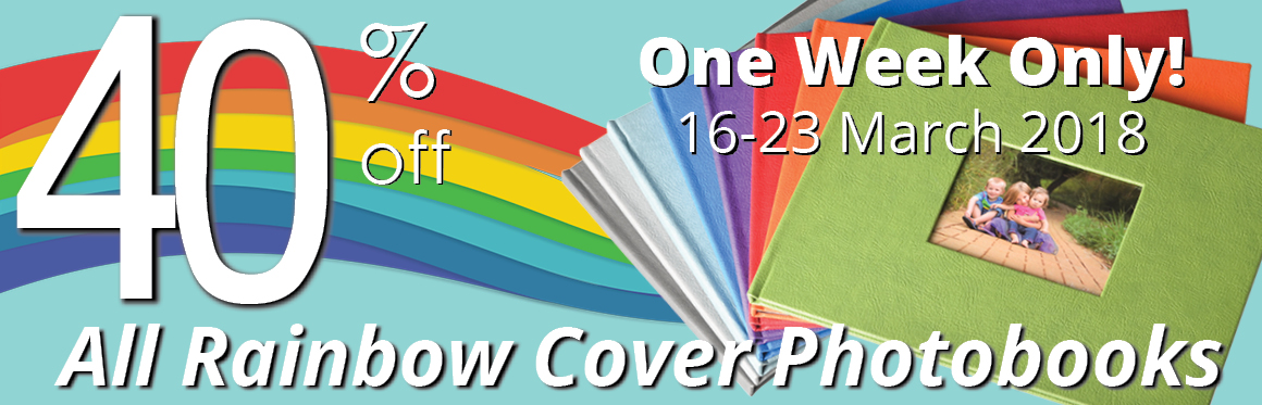 Flash Sale: Get 40% Off All Rainbow Cover Photo Books For One Week Only