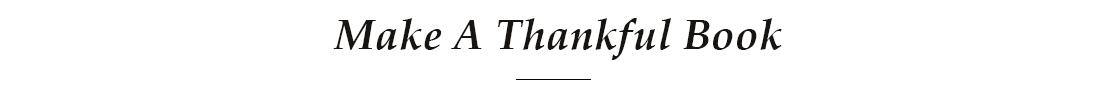 Make A Thankful Book