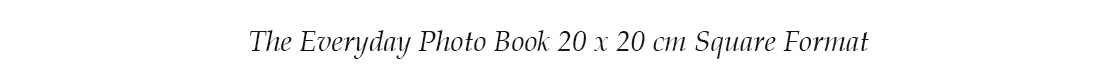 The Everyday Photo Book