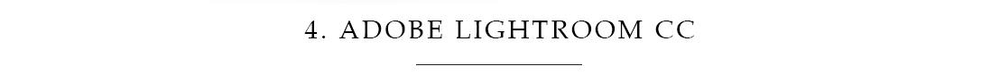 4.Adobe Lightroom CC