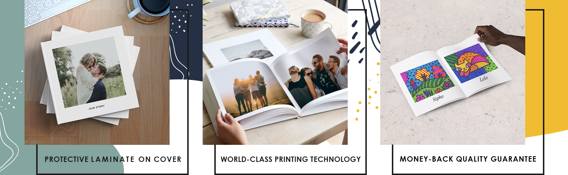 Protective Laminate on cover | World-Class Printing Technology | Money-back Qaulity Guarantee