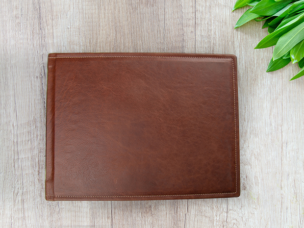 LAYFLAT Landscape Genuine Leather Cover Photo Book