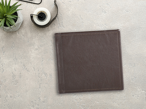 LAYFLAT Square Genuine Leather Cover Photo Book