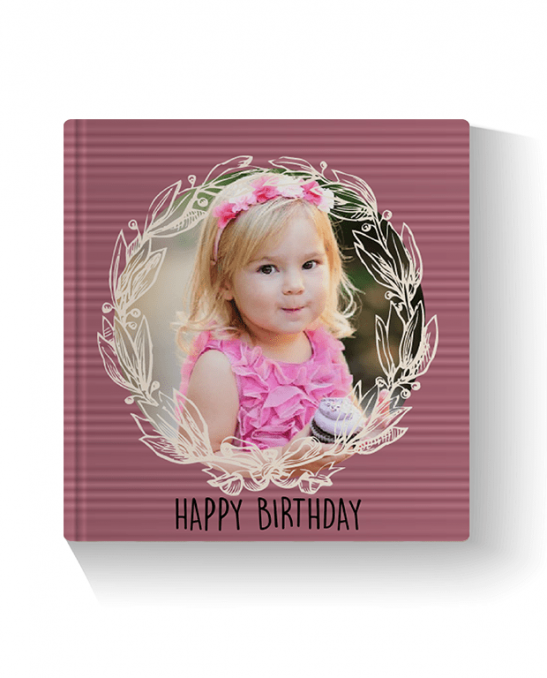 Big Birthday Layflat Landscape Photo Book Printed Hard Cover