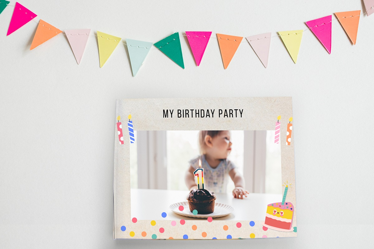 My birthday party Layflat Landscape Photo Book Printed Hard Cover