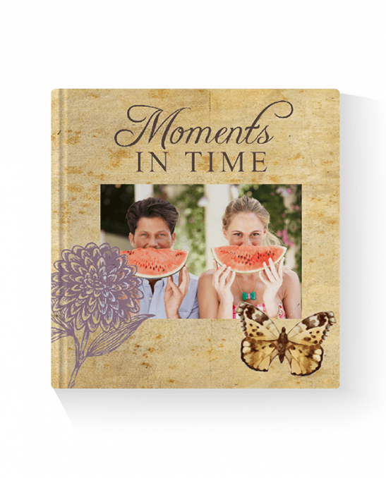 Moments in Time Layflat Landscape Photo Book Printed Hard Cover
